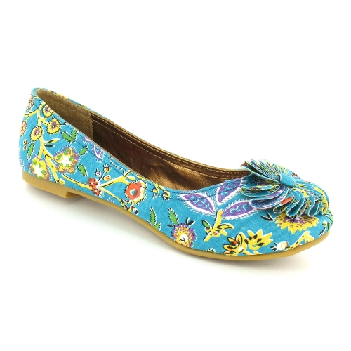 Rocket-Dog-Mercy-Womens-Cactus-Flower-Print-Pumps-Teal