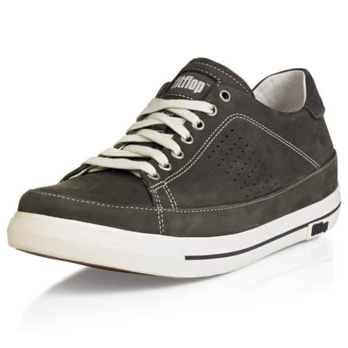 Men's Supertone Leather Trainers Grey