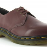Dr Martens Vegan 1461 Mens 3-Eyelet Shoes - Cherry Red