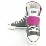 Converse All Star 127540C Twofold Hi Unisex Basketball Boots - Charcoal Grey, White and Cactus Flower Pink