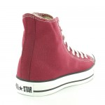 Converse All Star Hi M9613 Unisex Canvas Hi Top Basketball Boots - Maroon