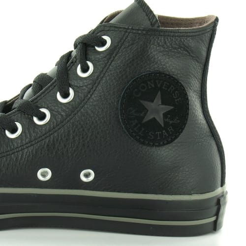 black leather high top converse mens