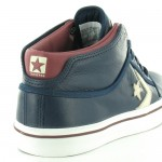 Converse Star 125267C Classic Pro Mid Mens Leather Low Cut Basketball Boots - Dark Blue, Maroon & White