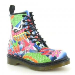 Dr Martens 1460 W Psych Tattoo 8-eyelet boots