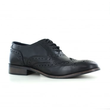 Adesso Lewis Mens Leather Fashion Shoes - Black