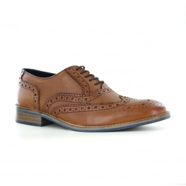 Adesso Lewis Mens Leather Fashion Shoes - Tan