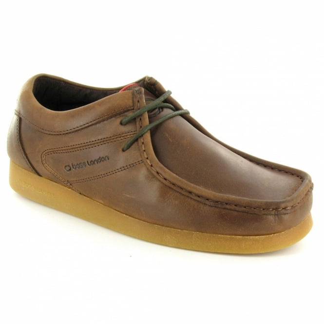 base s leather lace up loafer brown