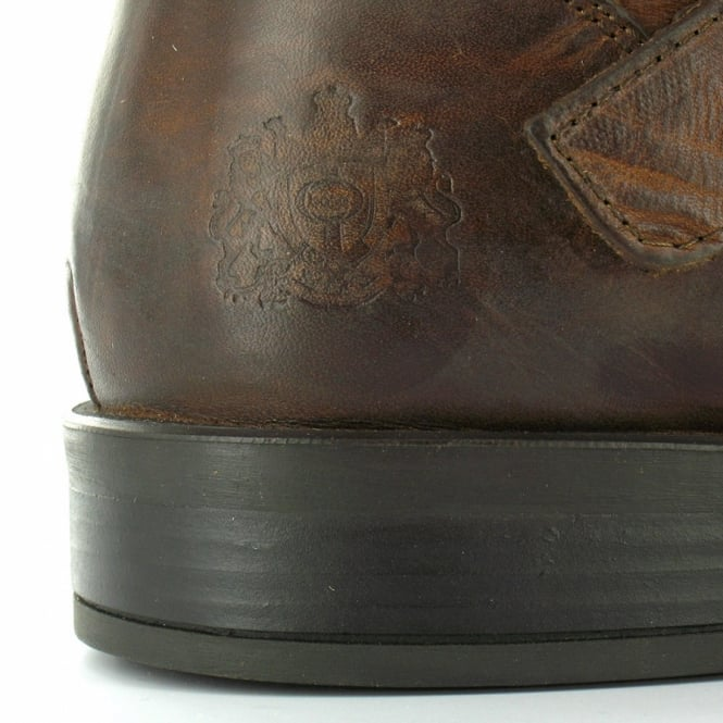 4fee8a9182979 Base London Metal Mens Leather Ankle Boots - Tan Brown