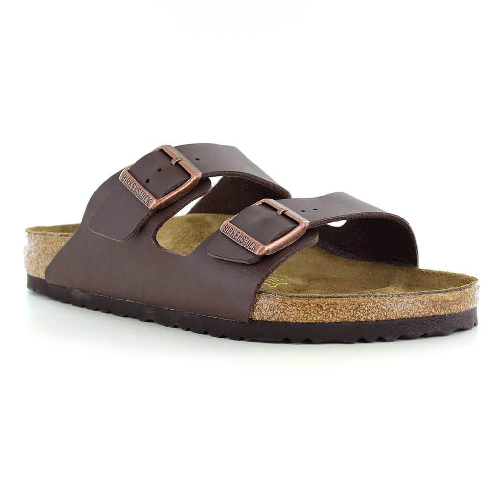 f5e93e77c12bf6 Birkenstock Arizona 0051701 Mens 2-Strap Sandals - Dark Brown
