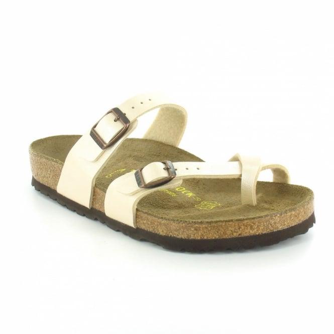 bc6db61722353a Birkenstock Mayari Womens Flat Toe-Loop Sandals - Graceful Pearl White