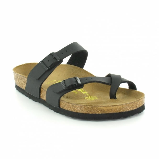 b8a5c2c5e84fbb Birkenstock Mayari Womens Flat Toe-Loop Sandals - Black