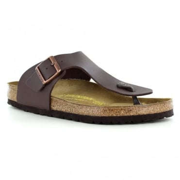 Birkenstock Ramses 0044701 Mens Toe Post Sandals - Dark Brown