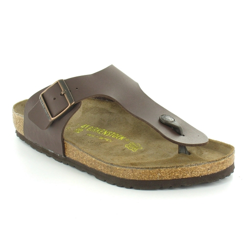 Ramses Dark Mule Post Toe Flat Brown Mens Sandals thdsxQrC