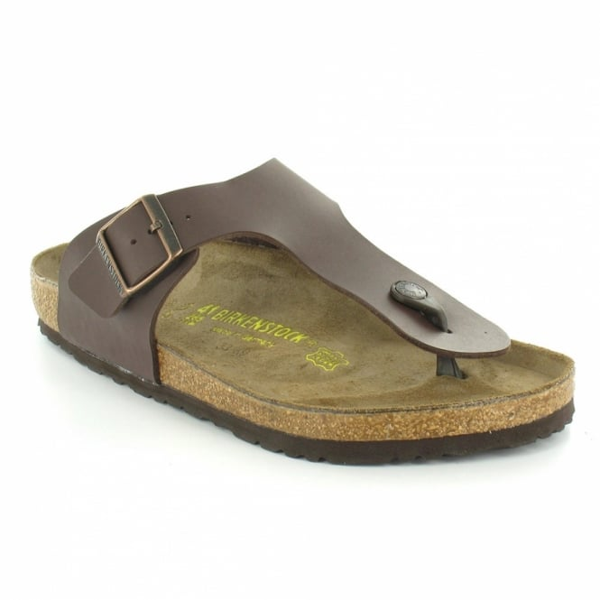 b86e256f5674 Birkenstock Ramses Mens Flat Toe-Post Mule Sandals - Dark Brown