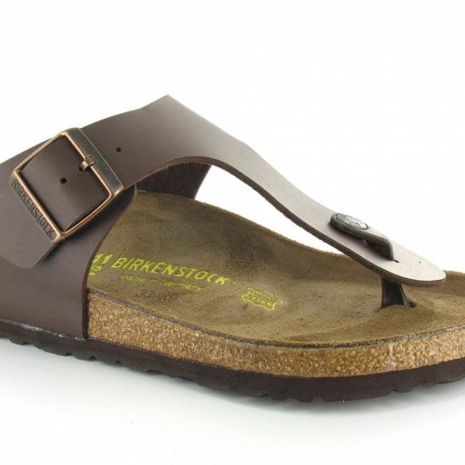 a92ca94ad Birkenstock Ramses Mens Flat Toe-Post Mule Sandals - Dark Brown