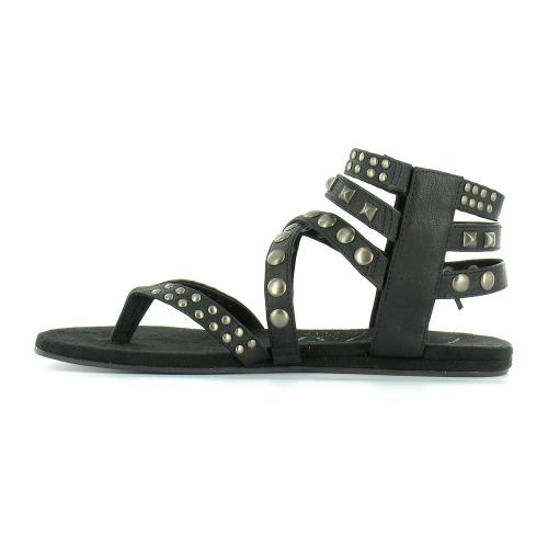 abd5da4ac BlowFish Laco Womens Roman Gladiator Studded Toe Post Sandals - Black