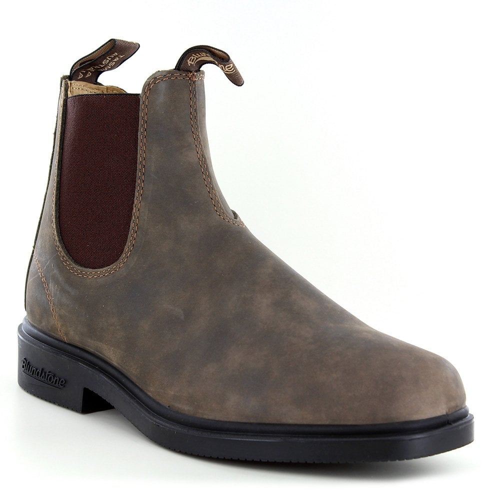 8b1c7e77856 1306 Unisex Leather Chelsea Boots - Rustic Brown