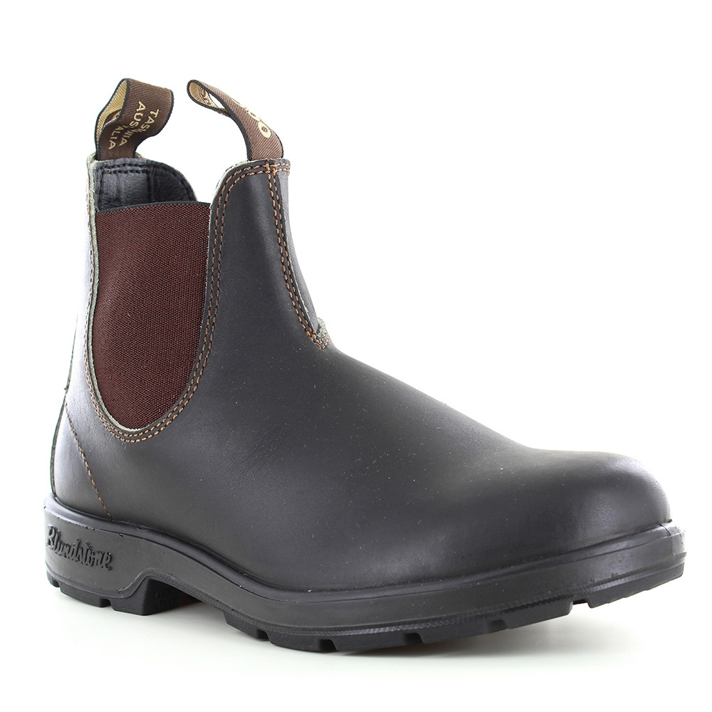 blundstone 500 unisex leather chelsea boots stout brown