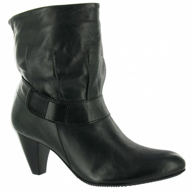 bronx 300375 a womens leather ankle boots black low