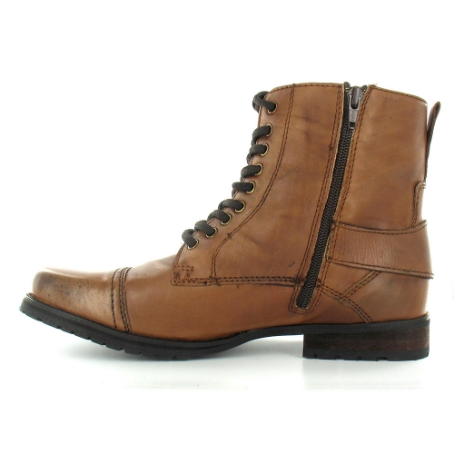 bronx bronx 43544 mens leather 9 eylet zip buckle boots