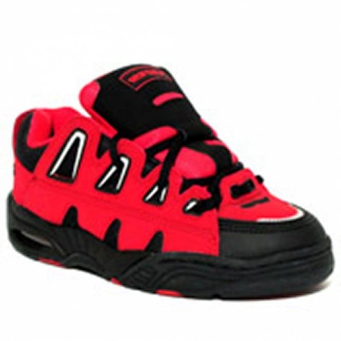 Buffalo 1718 36 Womens Fashion Skate Shoes Red Black Sports