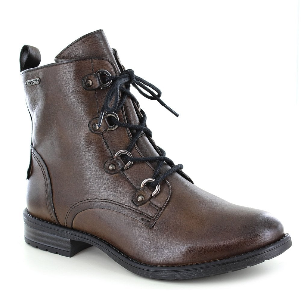 presenting casual shoes cheap for discount Bugatti 411-56934-4100 Womens Leather D-Ring Zip Boots Dark Green ...