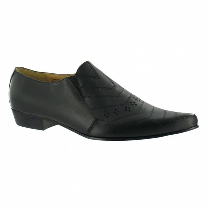 tuk c2032 mens slip on leather shoes black formal slip