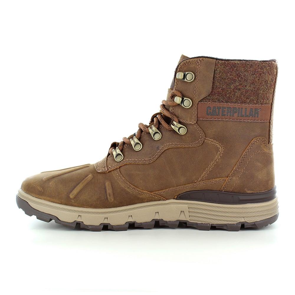 Caterpillar Cat Stiction Hi P Mens Waterproof Leather Boots Brown Sugar