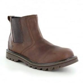 Caterpillar (CAT) Stoic P720588 Mens Slip-On Leather Chelsea Boots - Tan