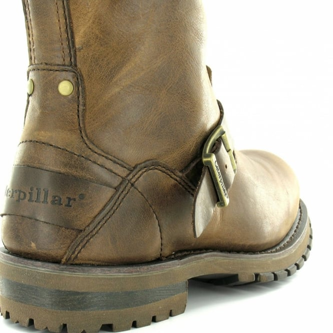 11757766aaa Caterpillar (CAT) Hogan Mens Full Grain Leather Pull-Up Mid-Calf Boots -  Gingeroot Brown