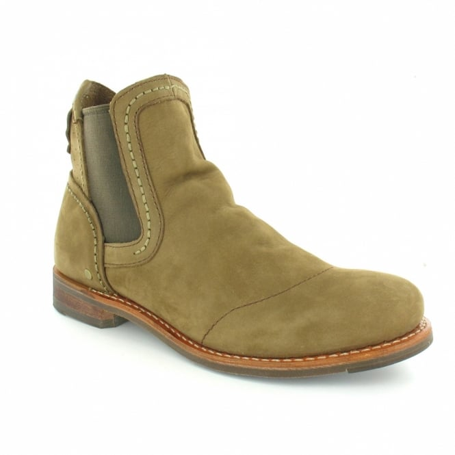 Caterpillar (CAT) Caterpillar CAT Moe P714997 Mens Leather Pull-On Gusset Boots - Tree Moss Brown