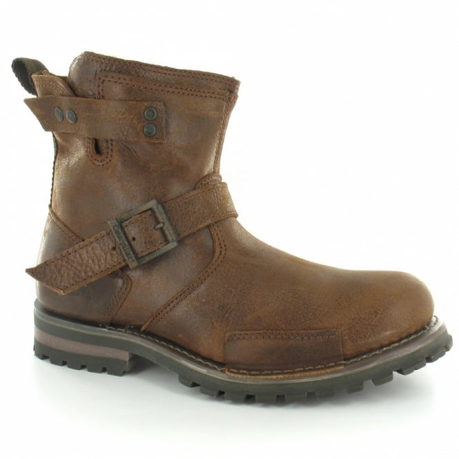 31d13fe05bd Caterpillar (CAT) Vern P714248 Mens Leather 6 Inch Ankle Boots - Canoe Brown