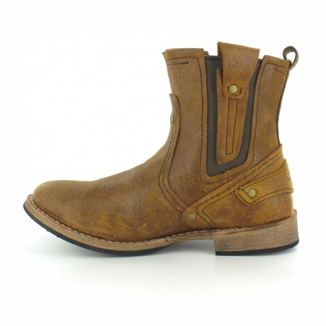 85cec87ddf5 Caterpillar (CAT) Vinson P713963 Mens Legendary Raw Leather Rugged Ankle  Boots - Molasses Brown