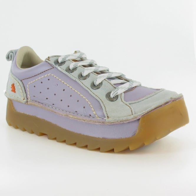 Art Company Art Skyline W600 Womens Leather 5-Eyelet Lace-Up Shoes - Lavender Purple & Grey