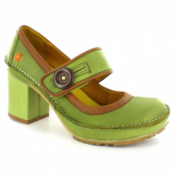 Art Tate Shoes art tate w700 womens retro leather heels - musgo green + cuero brown