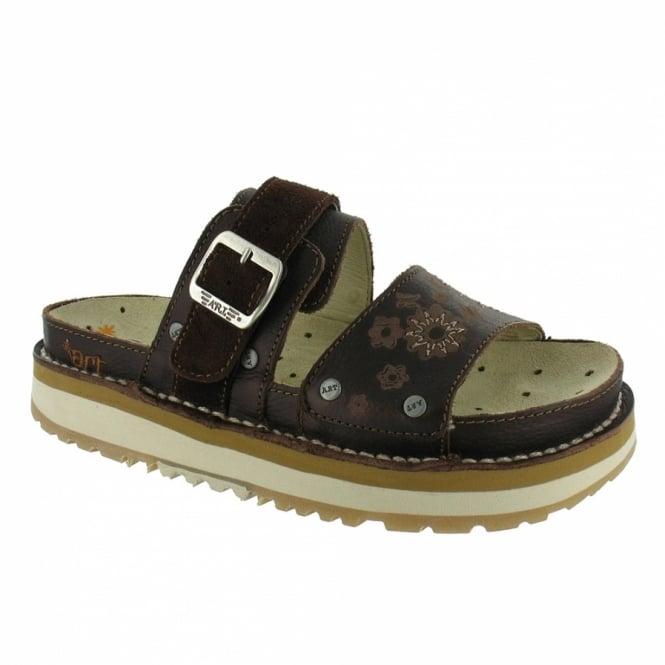 9721af02e45 Art Company Art Bio W018 Womens Leather Platform Sandals - Brown ...