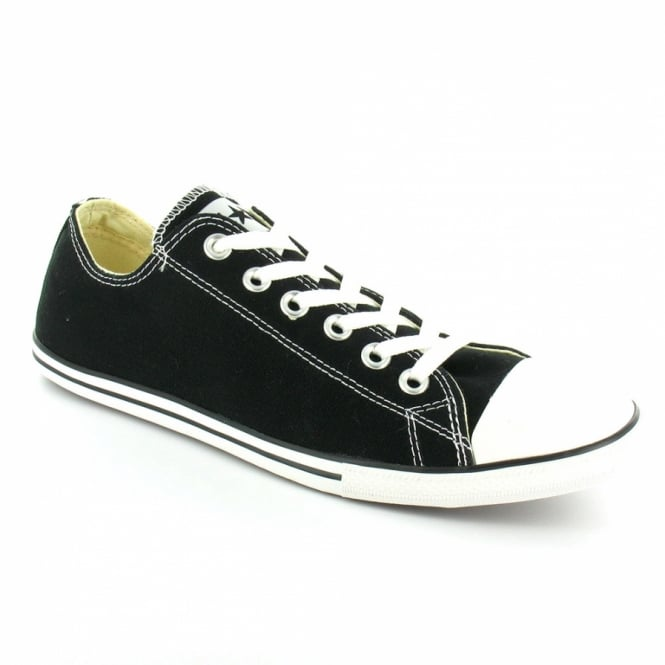 8f6f41b2188696 Converse 113894 Chuck Taylor All Star Mens Slim Oxford Canvas Basketball  Shoes - Black + White