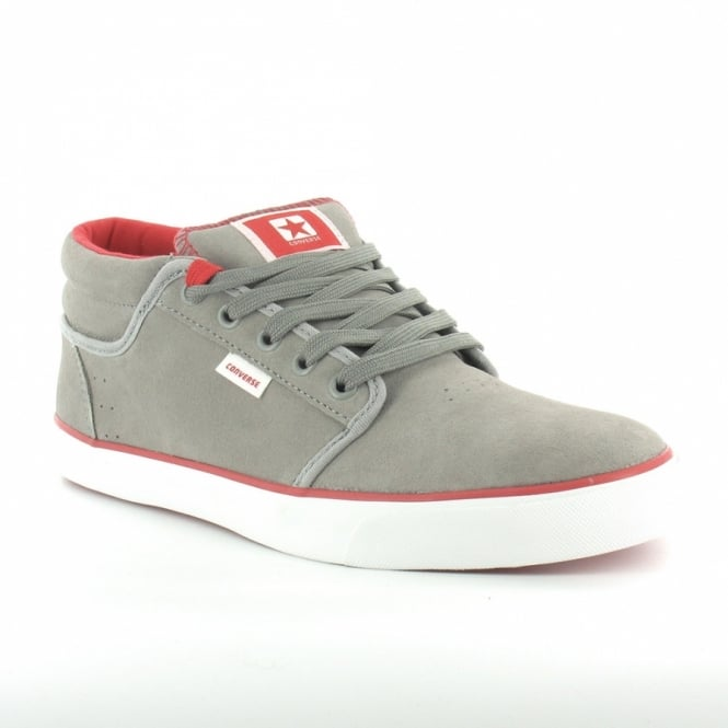 f9b9d6e3ca88 Converse 125376C Silo Mid Mens Suede Leather Low Cut Skate Boots - Light  Grey  amp