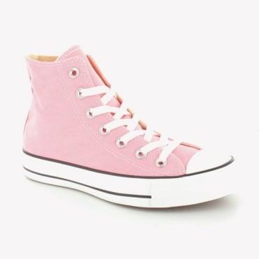 Converse 132309C Womens Canvas Chuck Taylor All Star Hi Basketball Boots - Quartz Pink