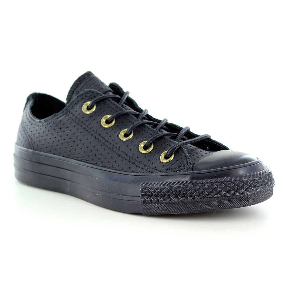 ed4c8a7e15b7 Converse Converse 151251C Chuck Taylor All Star Unisex Leather Oxford Shoes  - Black Biscuit