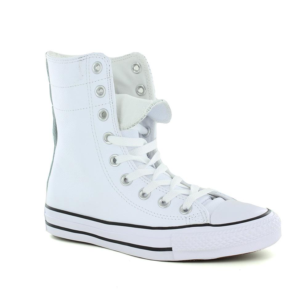 5e86fd48a69171 Converse 549705C Chuck Taylor All Star Womens Hi Canvas Shoes - White