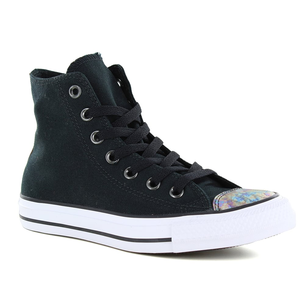 0d6f414c17f4 Converse 551607C Chuck Taylor All Star Hi Womens Basketball Shoes - Black