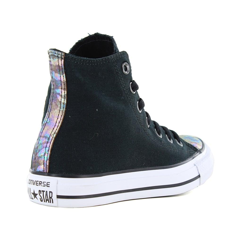 Converse 551607C Chuck Taylor All Star Hi Womens Basketball Shoes - Black 56404b858