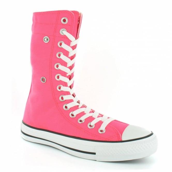 size 40 29068 f82c9 Converse Chuck Taylor Hi XHi 114037 Unisex Canvas Mid-calf Boots - Neon Pink