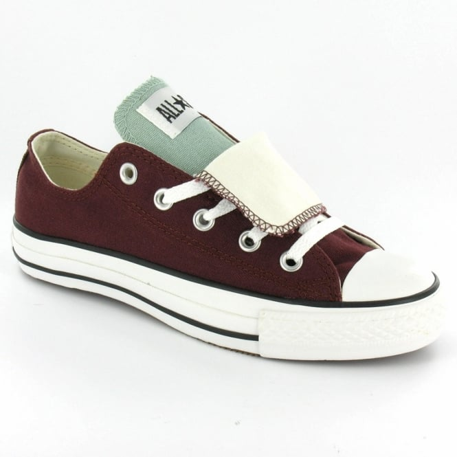d1579dad1f0aa4 Converse Chuck Taylor Oxford Unisex Double Tongue Canvas Basketball Shoes -  Burgundy Chocolate + Mint Green