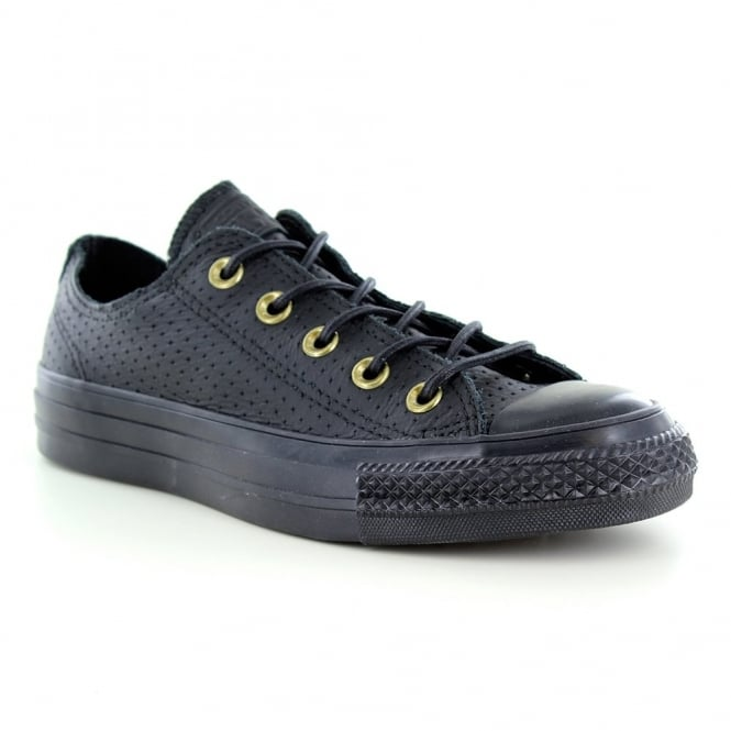 Converse 151251C Chuck Taylor All Star Unisex Leather Oxford Shoes - Black/Biscuit