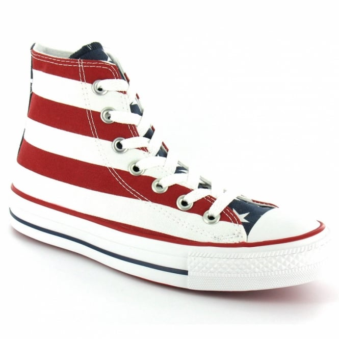 cd7459f59af2cb Converse M8437 Stars And Bars Unisex Chuck Taylor All Star Hi-Top Canvas  Basketball Boots