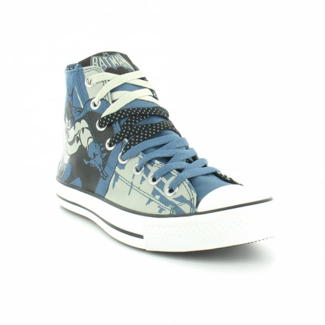 bf2e68c7d661 Converse All Star 122136 DC Comic Print Batman Unisex Hi Top Basketball  Boots - Blue