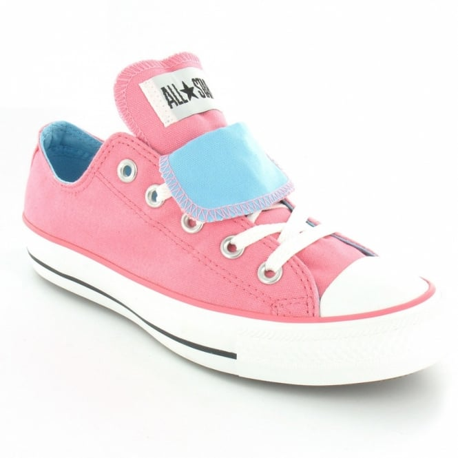 6eee60e8b21bd1 Converse All Star 122524 Womens Double Tongue Oxford 5-Eyelet Basketball  Shoes - Pink