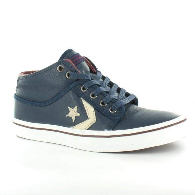 24f640fc8ec2 Converse Star 125267C Classic Pro Mid Mens Leather Low Cut Basketball Boots  - Dark Blue